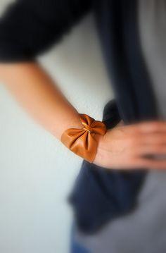 DIY Leather Bow Cuff Bracelet