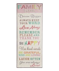 'Family Rules' Sign | something special every day