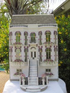 The Orchid House Dollhouse with Shops - Dollhouses by Robin Carey