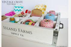 vintag crate, chalkboard blue, crate tutori