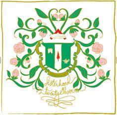 delta zeta crest design