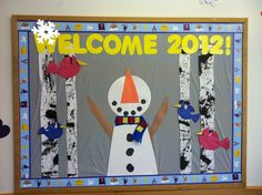 """Welcome 2012"" January Bulletin Board"