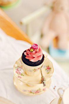 Pretty Tea Cupcakes