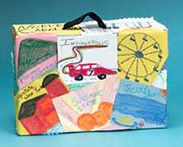 To teach about Canada (or your country), students create suitcases from cereal boxes and store their Travel Log and map inside. The students visit each province or state and record their findings and blog about it. We learned so much and had a wonderul time exploring our beautiful country. I also used my Smartboard to track their visit.