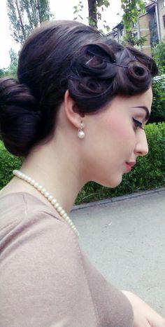 vintage hair, pincurl, style hair, wedding hairs, bobby pins, pin curls, beauti, veronica lake, sock buns