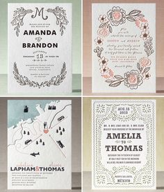 Minted Letterpress Wedding Invitations -- I love, love, LOVE the look of letterpress style invitations