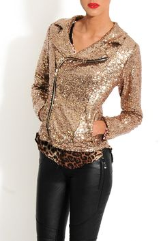 biker jackets, sequin women, gold sequin, jacket outfit