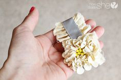 diy vintage flower headband