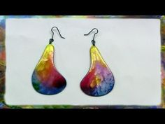 How to make Watercolor Paper Earrings by Ross Barbera - YouTube