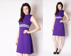 Vintage 1960s Dress  Mod Scooter Dress  60s Purple by aiseirigh, $76.00