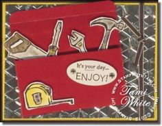 Stampin Up Tool time stamp set...for the guys!