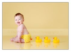 Seriously? It is like the kid is crapping ducks. babi pictur, rubber ducki, quack, ducks, pictur idea, ador, photographi, babi photo, kid