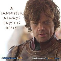 A Lannister always pays his debts...do you? #cuStudentLoans