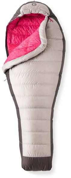 Women's sleeping bag for backpacking.