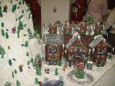 Gingerbread Ski Lodge Front by esmereldes