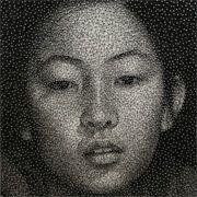 Portrait in thread