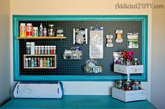 DIY:: Craft Room Pegboard ! Easy Project And Tutorial ! Perfect For Organization