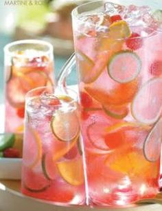 raspberry tequila sangria. almost too pretty to drink.