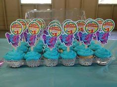 Kimmy Hatch Bolton shared these yummy cupcakes!! Cupcake toppers made using our free #diy #birthday kit!!  http://thegigglebellies.com/free/ #GBbirthday