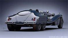 Simon's variety of film design assignments: The 40ies inspired Schmidt Coupe for Marvel's 'Captain America'.