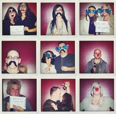 mustache photo booth