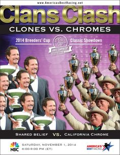 It's going to be Clones vs. Chrome in the @breederscup  Classic on Nov. 1! Whose team are you on?