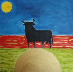Black Bull - 40 x 40 cm. acry on canvas | Flickr - Photo Sharing!