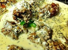 Recipe from The Little Mom Who Could http://www.thelittlemomwhocould.com/2014/02/18/meatballs-in-cream-sauce/