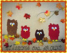 Fabric Owl &  Burlap Fall Decor Tutorial