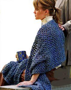 Lion Brand Free Crochet Pattern: Prayer Shawl / Healing Shawl