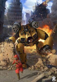 Stool robot Picture  (2d, sci-fi, robot, mech)