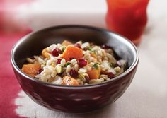 Pearl Barley with Roasted Squash, Pomegranate, and Pistachios | Vegetarian Times