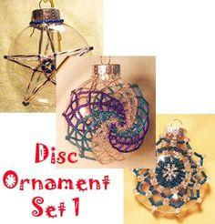 Disc Beaded Ornament Set Pattern by Pamela Welborn AKA Violetbead at Bead-Pattern.com