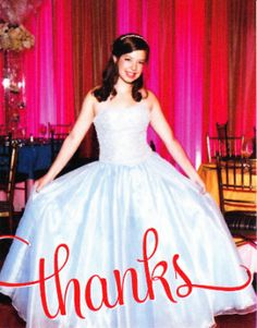 """Use a photo from your child's celebration as your Bar Bat Mitzvah """"thank you"""" card."""