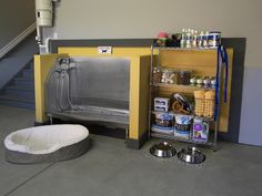 Dog wash station in the basement. great for a grooming area too