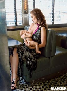 Celebrity Mom Causes Debate with Breastfeeding Shot in Glamour - Mothering