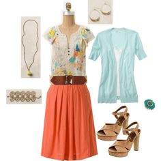 Soca Flutter Tee with Field Scout Skirt, created by jennifoundinmycloset on Polyvore