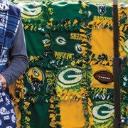 No-sew tie patch blanket using NFL fabric