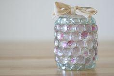 Mason Jar Crafts   Prism Jar Candle Light