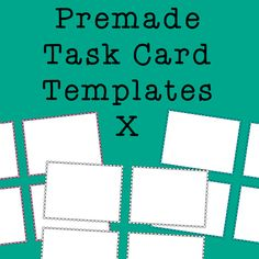 Task Card Frames and Borders 10 - Template, $