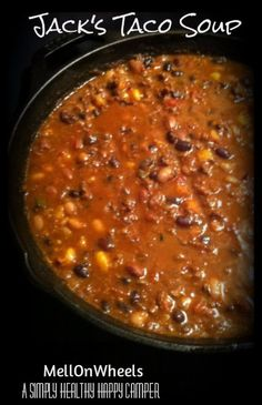 Jacks Taco Soup ~ WW Simply Filling or WW Points+ 8 (10 servings)
