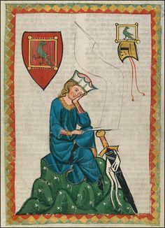 Manessa Codex  Universitätsbibliothek Heidelberg, Cod. Pal. germ. 848  Große Heidelberger Liederhandschrift (Codex Manesse)  Zürich, ca. 1300 bis ca. 1340  The entire codex. :)