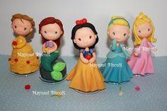 Polymer clay Disney Princesses