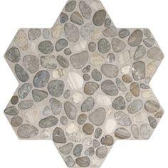 FLOORS 2000 5-Pack Agrega Gray Glazed Porcelain Indoor/Outdoor Floor Tiles (Common: 18-in x 18-in; Actual: 17.75-in x 17.75-in)