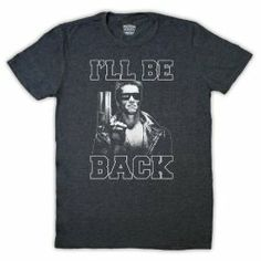 "Terminator ""I'll Be Back"" Arnie T-Shirt (choice of colours)"