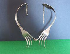 Fork  necklace by GleamLety on Etsy, $33.99