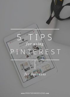 5 Tips for Using Pin