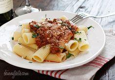 Crock Pot Bolognese Sauce #sauce #crockpot #slowcooker #bolognese #beef #italian #pasta