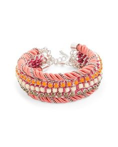 Rhinestone Rope Bracelet.