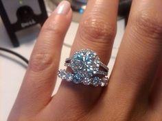 Holey Moley! Huge diamond ring! I love  http://www.pinterest.com/JessicaMpins/